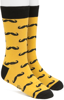 FredFlare mustache socks