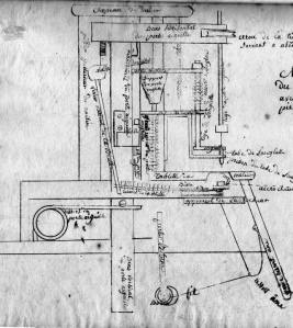 Thimonnier technical drawing, courtesy of ISMACS
