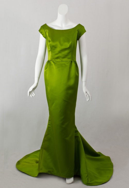 Bill Blass green dress