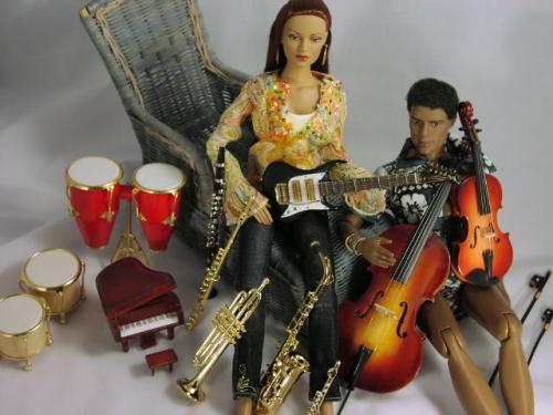Dolls, clothing, and musical instruments: Made in China